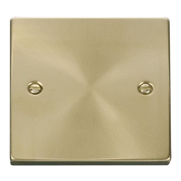 1 Gang Blank Plate-Satin Brass