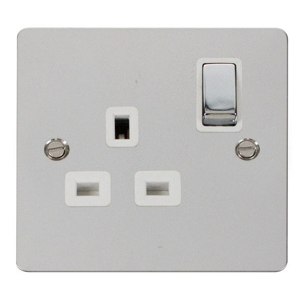 Click FPCH535WH Ingot 1 Gang 13A DP Switched Socket