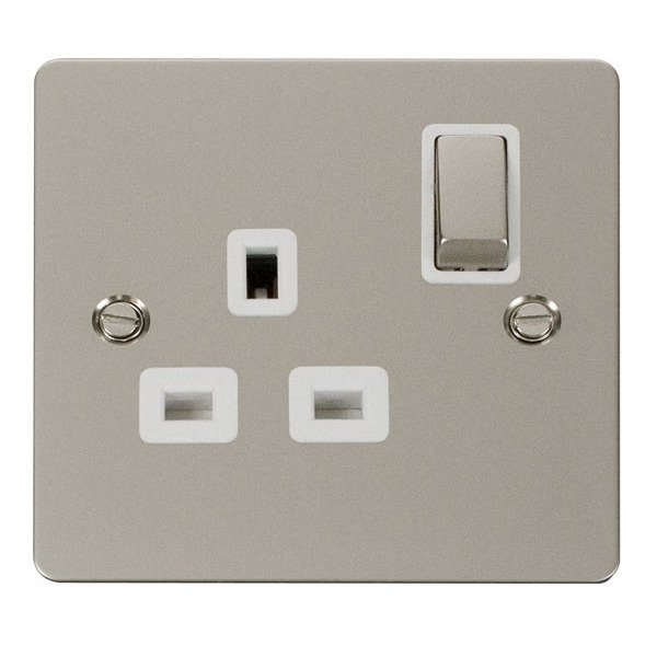 Click FPPN535WH Ingot 1 Gang 13A DP Switched Socket