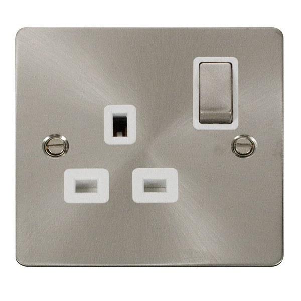 Click FPBS535WH Ingot 1 Gang 13A DP Switched Socket