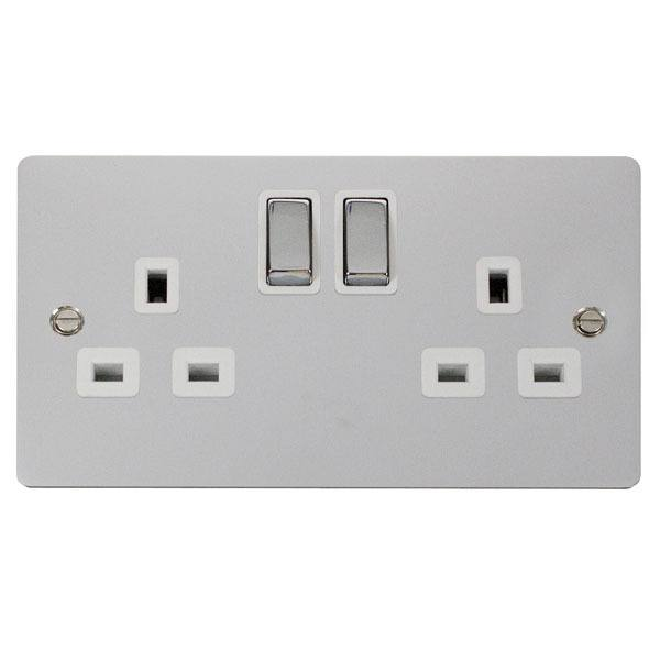 Click FPCH536WH Ingot 2-Gang 13A DP Switched Socket