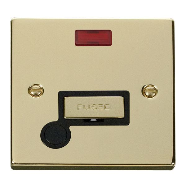 Click VPBR553BK 13A Fused 'Ingot' Connection Unit With Flex Outlet & Neon