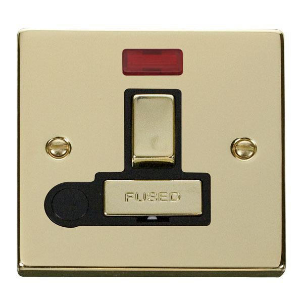 Click VPBR552BK 13A Fused 'Ingot' Switched Connection Unit With Flex Outlet & Neon
