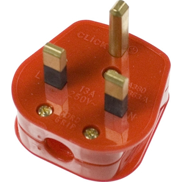 13A Fused Non-Standard Plug-Red