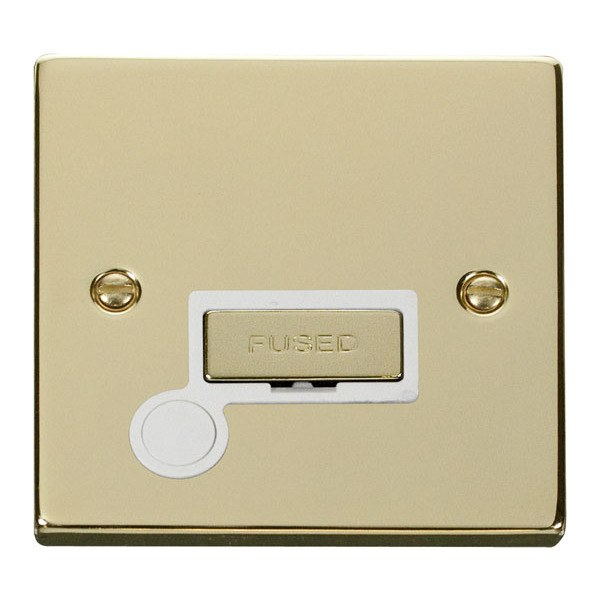 Click VPBR550WH 13A Fused Ingot Connection Unit With Flex Outlet