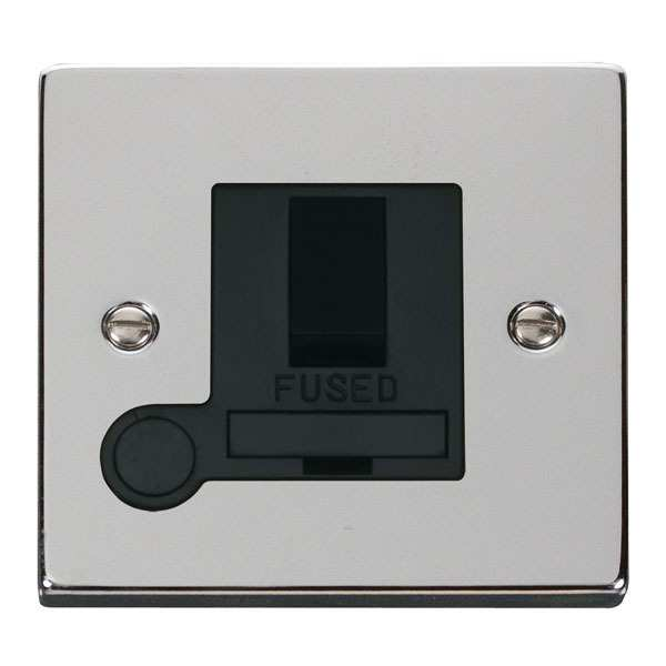 Click VPCH051BK 13A Fused Switched Connection Unit With Flex Outlet