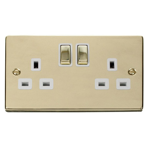 Click VPBR536WH 2 Gang 13A DP Ingot Switched Socket Outlet