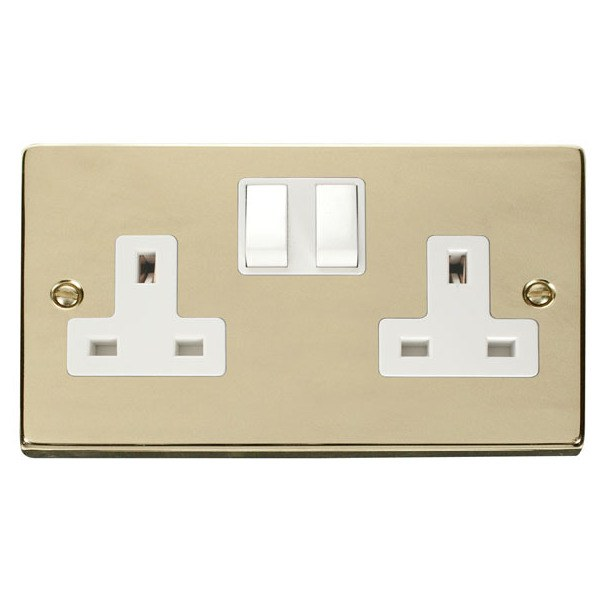 Click VPBR036WH 2 Gang 13A DP Switched Socket Outlet