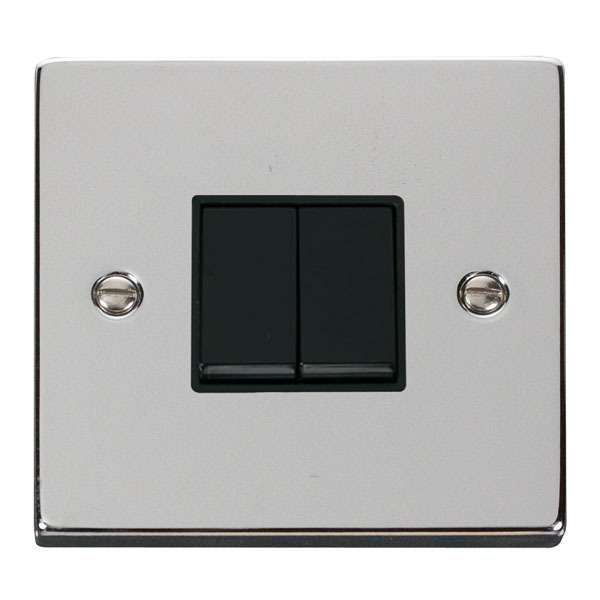 Click VPCH012BK 2 Gang 2 Way 10AX Switch