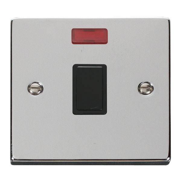 Click VPCH623BK 20A 1 Gang DP Switch & Neon