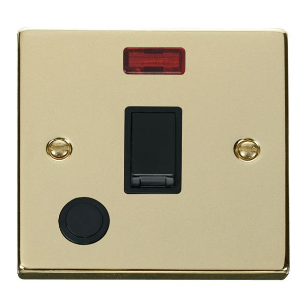 Click VPBR023BK 20A 1 Gang DP Switch With Flex Outlet And Neon