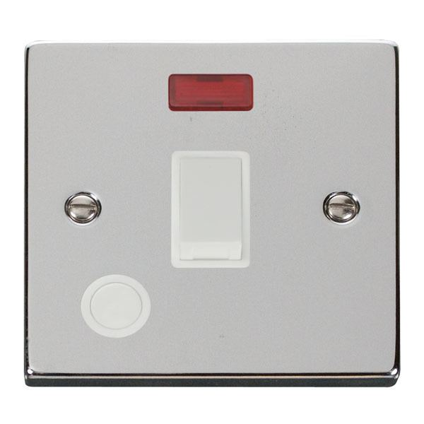 Click VPCH023WH 20A 1 Gang DP Switch With Flex Outlet And Neon