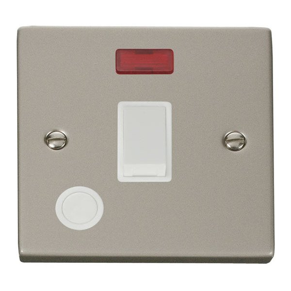 Click VPPN023WH 20A 1 Gang DP Switch With Flex Outlet And Neon