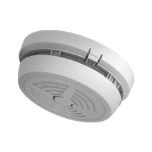 230V Thermally Enhanced Optical Smoke Alarm With Rechargeable Lithium Back-Up + PUSH-FIT Base