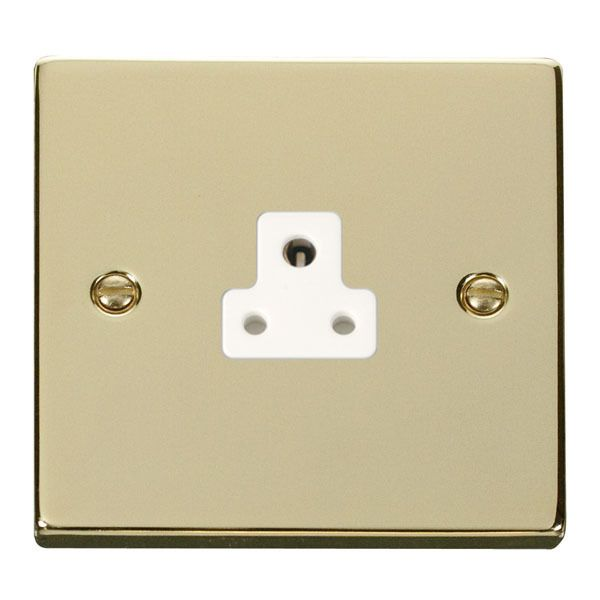 Click VPBR039WH 2A Round Pin Socket Outlet