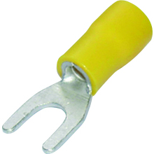 SWA Fork Terminal (Pk100) 43YF Yellow 4.3mm Gap