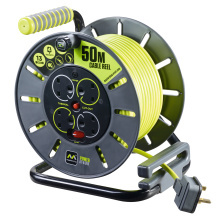 50 Metre 13A 4 Gang Large Open Cable Reel