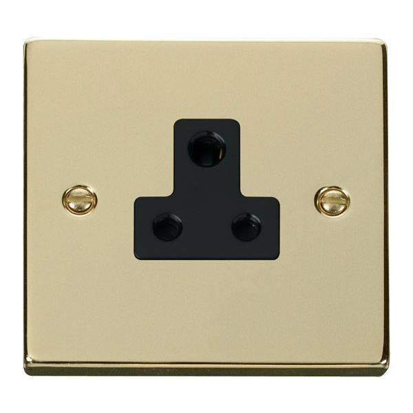 Click VPBR038BK 5A Round Pin Socket Outlet
