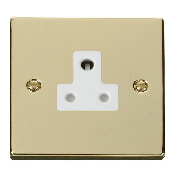 Click VPBR038WH 5A Round Pin Socket Outlet