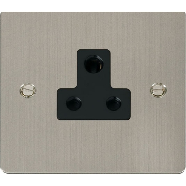 Click FPSS038BK 5A Round Pin Socket Outlet