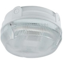 Ansell 2D 16w Bulkhead Round AD16/WP/HF White Prismatic Diffuser