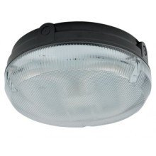 Ansell 2D 28w Bulkhead Round AD28/BP/HF Black Pristmatic Diffuser