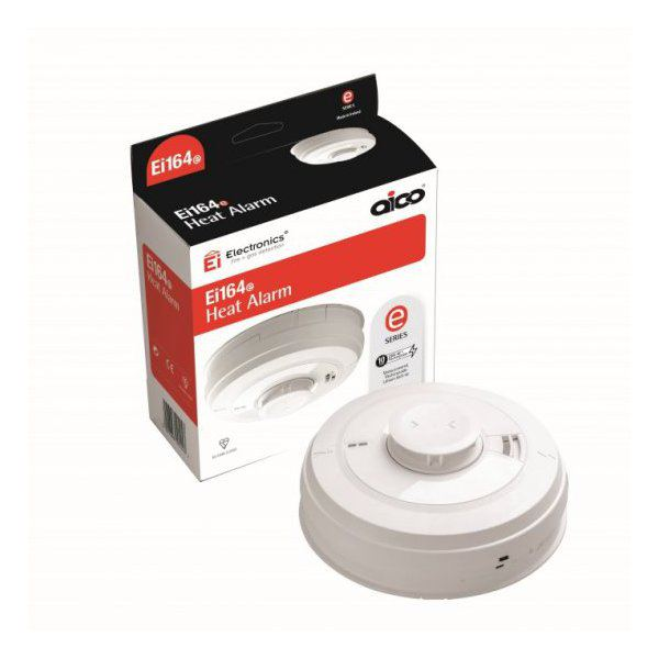 Aico Ei164e Mains Powered Heat Alarm With Rechargeable