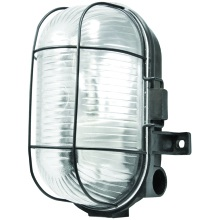 GLS Powermaster Oval Caged Bulkhead 60w IP44 Black