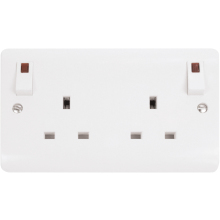 Click CMA840 13A 2 Gang DP O/B Switched Socket Outlet & Neons