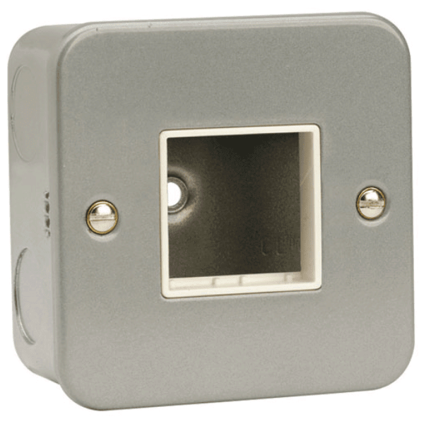 "Click CL402 1 Gang Switch Plate "" 2 Aperture"