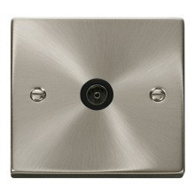 Click VPSC065BK Single Coaxial Socket Outlet