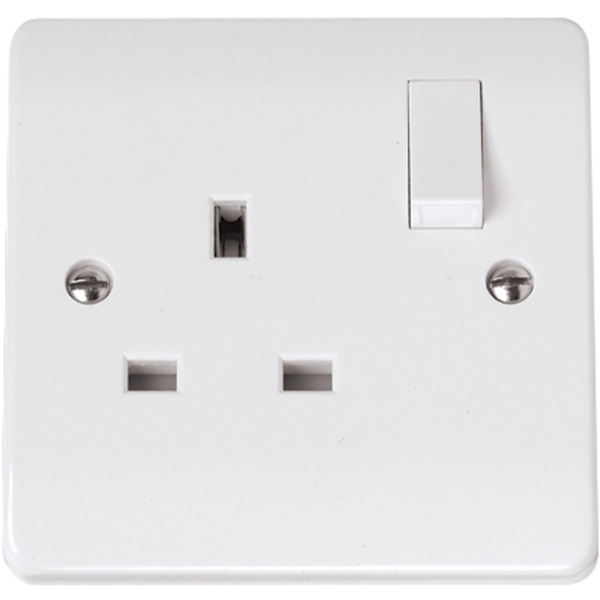 Click Cma035 13a 1 Gang Dp Switched Socket Outlet
