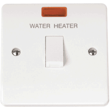 Click CMA042 20A DP Switch With Neon 'Water Heater'