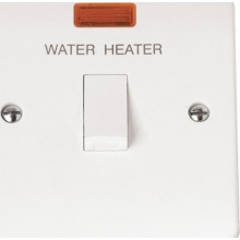 Click CMA046 20A DP Switch 'Water Heater' with Flex Outlet & Neon