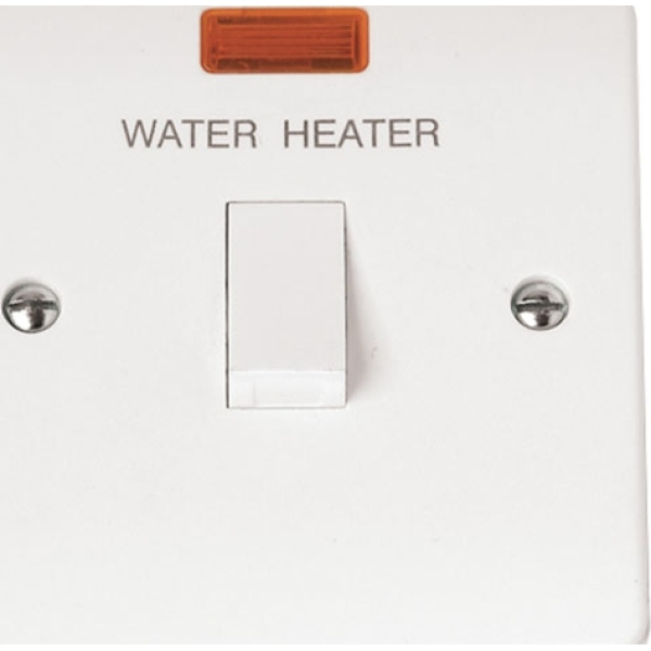 Click CMA046 20A DP Switch Water Heater with Flex Outlet & Neon