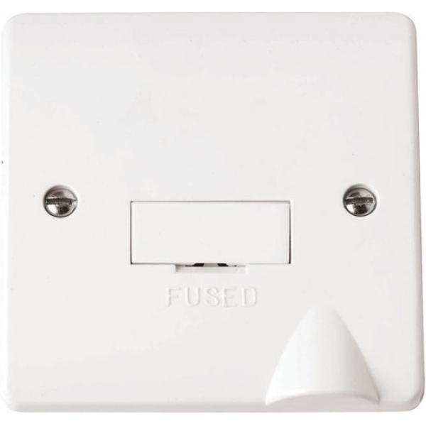 Click CMA049 3A Fused Connection Unit with Flex Outlet