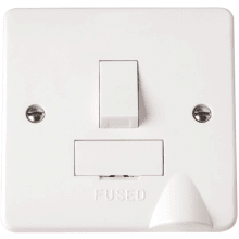 Click CMA051 13A Fused Connection Unit DP Switched with Flex Outlet