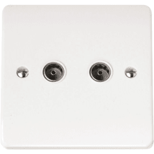 Click CMA066 Twin Coaxial Socket Outlet