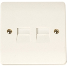 Click CMA122 Twin Telephone Outlet - Master