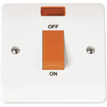 Click CMA201 45A 1 Gang Single Cooker Switch With Neon