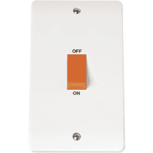 Click CMA202 45A 2 Gang Single Cooker Switch