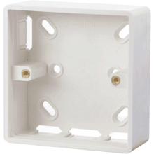 Click CMA230 1 Gang 29mm Deep PVC Pattress Box - Trunking