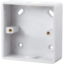 Click CMA240 1 Gang 29mm Deep PVC Pattress Box - Conduit