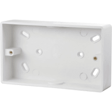 Click CMA245 2 Gang 29mm Deep PVC Pattress Box - Conduit