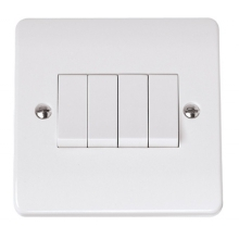 Click CMA9014 10AX 4 Gang 2 Way Single Plate Switch