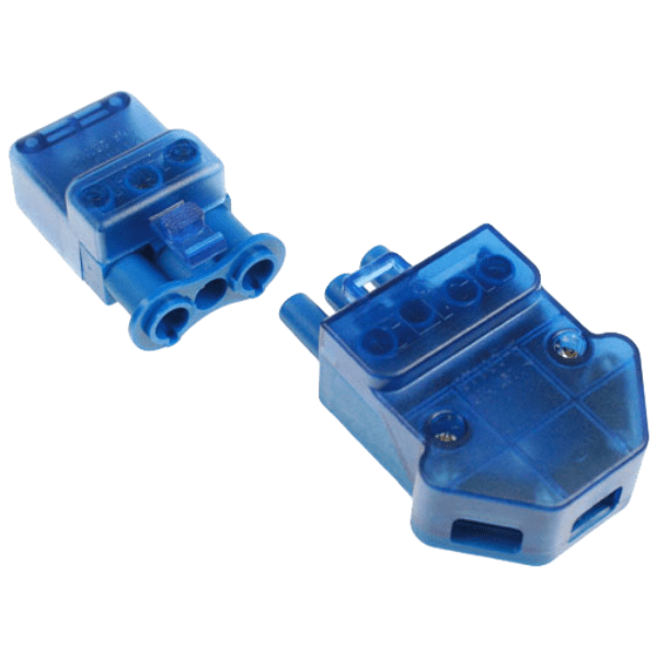 Click CT102C 250V 20A 3 Pin Flow Connector- Screw-Down Cord Grip