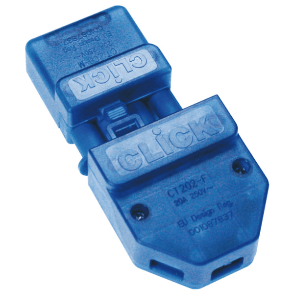 Click CT202C 250V 20A 4 Pin Flow Connector - Screw-Down Cord Grip