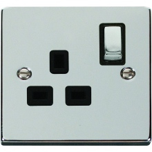 Click Deco Polished Chrome Power Socket Outlets
