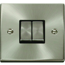 Click Deco Satin Chrome 2Way Switch