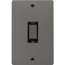 Click FPBN502BK Ingot 2 Gang 45A DP Switch